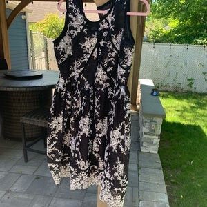Calvin Klein black and white lace dress!